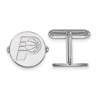Versil Sterling Silver NBA LogoArt Indiana Pacers Cuff Link