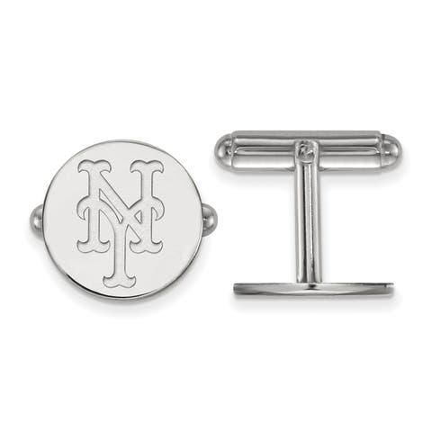 Versil Sterling Silver New York Mets Cuff Link