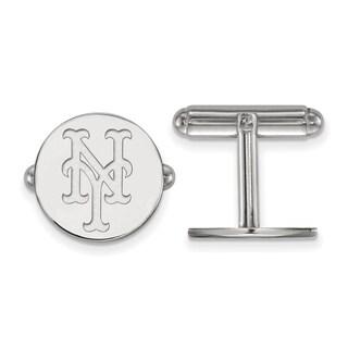 Sterling Silver New York Mets Cuff Link