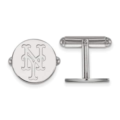 Sterling Silver New York Mets Cuff Links by Versil