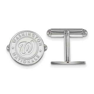Sterling Silver Washington Nationals Cuff Link