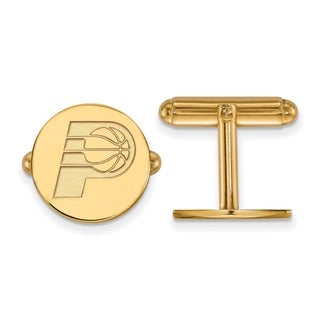 Sterling Silver With Gold Plating NBA LogoArt Indiana Pacers Cuff Link