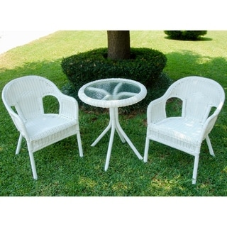 International Caravan Outdoor Resin/ Steel Bistro Set