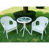 International Caravan Chelsea 3-Piece Resin Wicker Outdoor Bistro Set