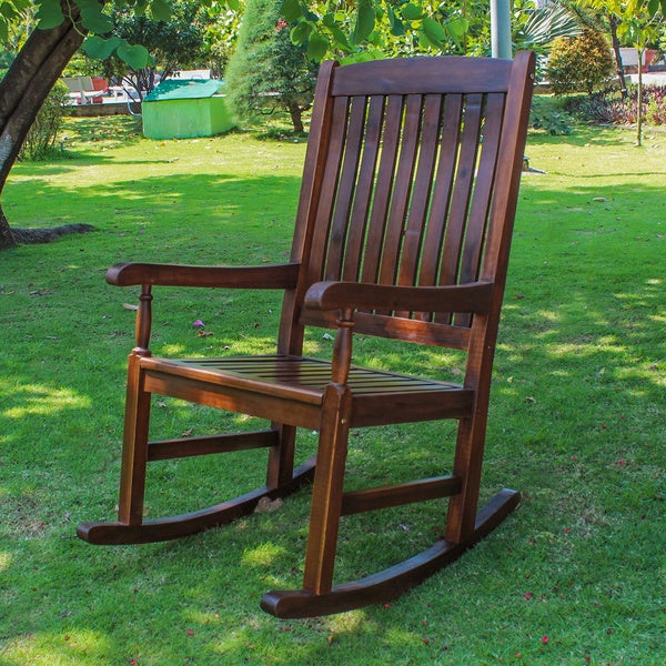 International Caravan Traditional Porch Rocking Chair   Free Shipping Today    Overstock.com   1152660