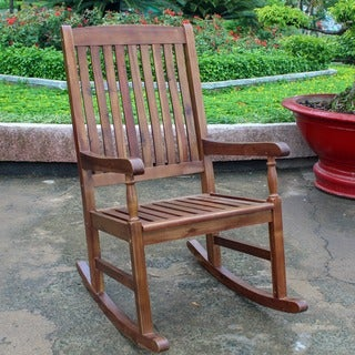 International Caravan Traditional Porch Rocking Chair