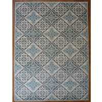 Savannah Contemporary Grey/Blue Area Rug
