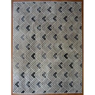"""Nickel Grey Contemporary Area Rug - 7'10"""" x 9'10"""""""