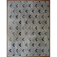 Nickel Grey Contemporary Area Rug - 7'10x9'10