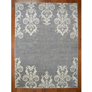 Kingston Grey Contemporary/Transitional Area Rug (7'10x9'10)