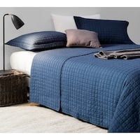 BYB Classic Nightfall Navy Supersoft Pre-Washed Cotton Quilt