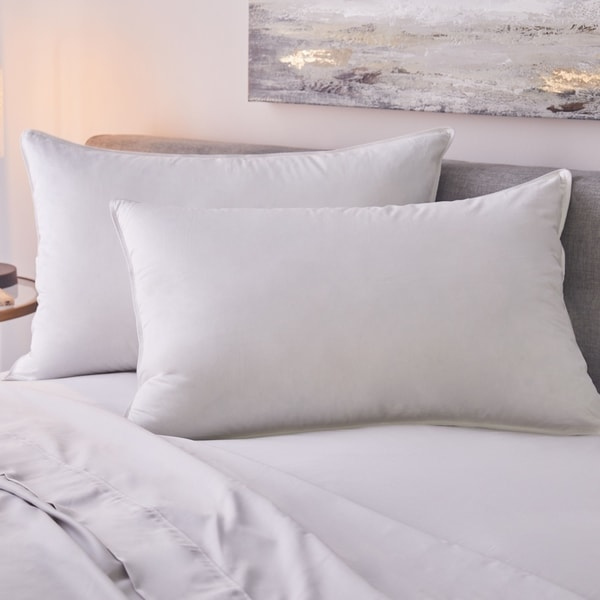 1221 Bedding Sateen White Goose Down Pillow