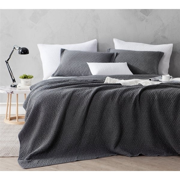 BYB Pewter Softest Stone Washed Quilt Set