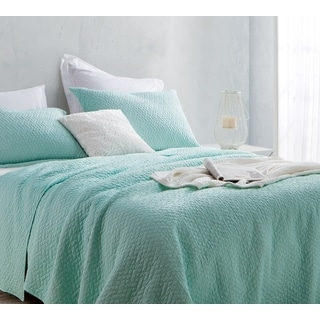 BYB Hint of Mint Softest Stone Washed Quilt Set