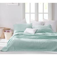 BYB Wrinkle Mint Green Microfiber Stone-washed Quilt Set