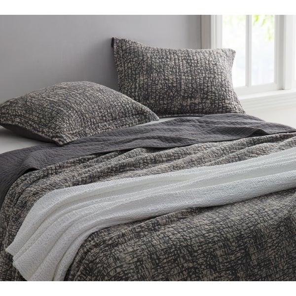 BYB Pewter Filter Stonewashed Cotton Quilt Set