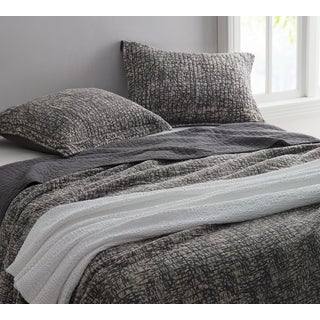 BYB Pewter Filter-Stonewashed Cotton Quilt Set