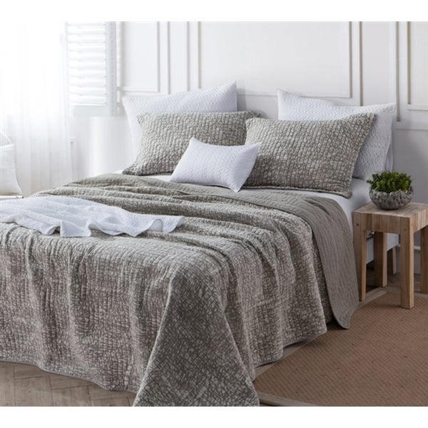 BYB Silver Birch Filter Stone Washed Cotton Quilt Set