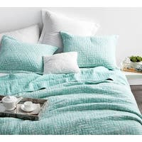 BYB Mint Green Cotton Stone-washed Quilt Set