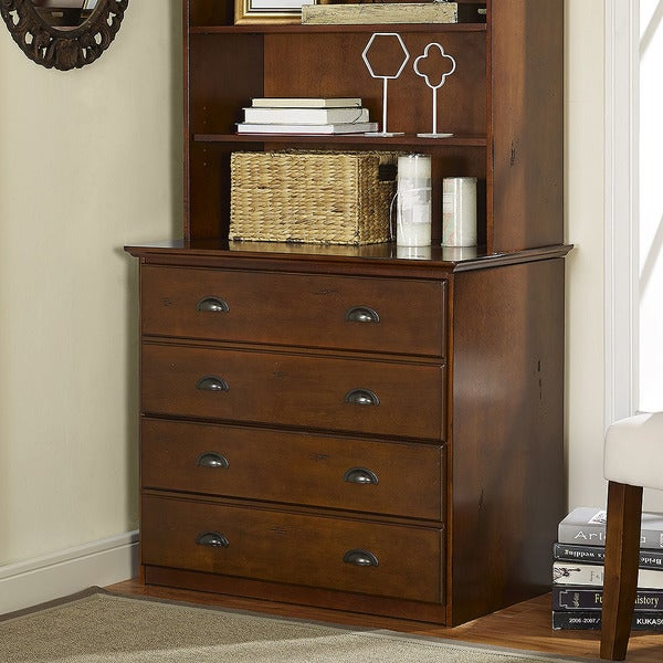 Superior Valley Forge Double File Cabinet In Vintage Cherry