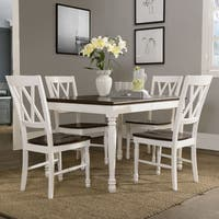 Shelby 5-piece White Dining Set