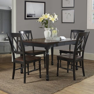 Crosley Furniture Shelby Black Wood 5-Piece Dining Set
