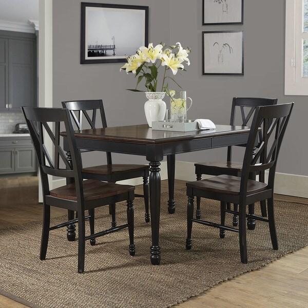 Crosley Furniture Shelby Black Wood 5 Piece Dining Set