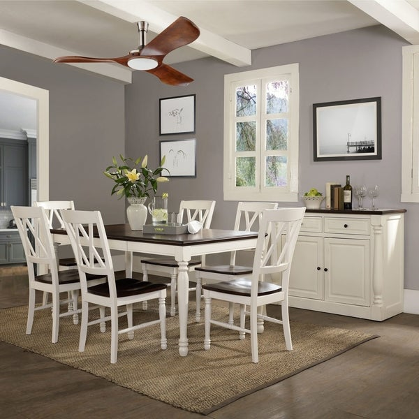 Shelby 7 Piece Dining Set  White