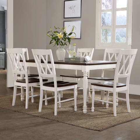 Shelby 7-piece Dining Set in White