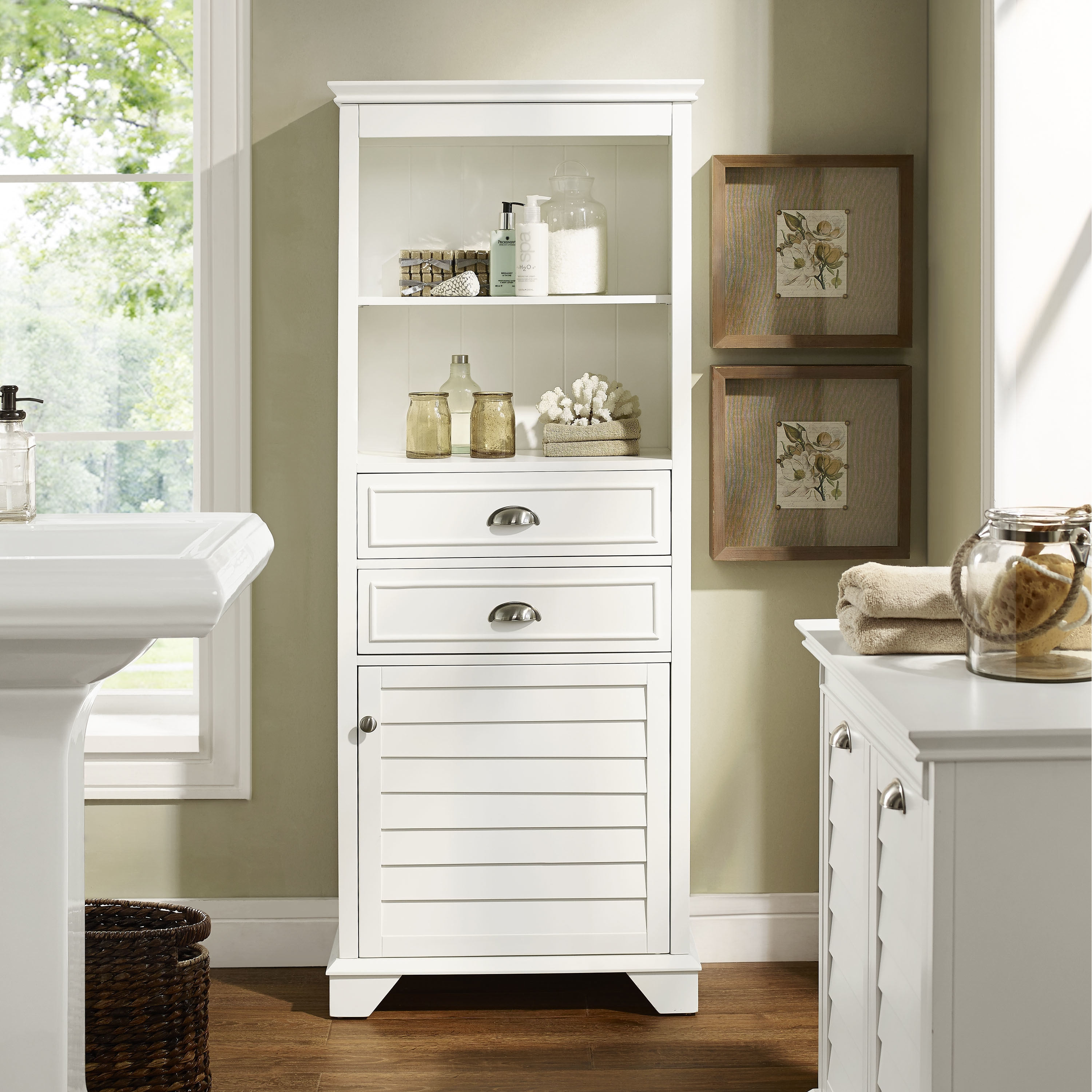 Lydia Tall Cabinet  White