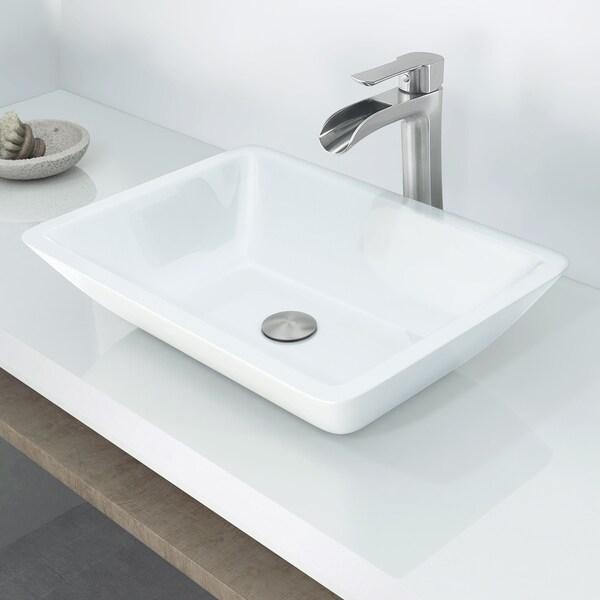 Shop VIGO Adele Phoenix Stone Vessel Bathroom Sink Set With Niko - Bathroom sink and faucet set
