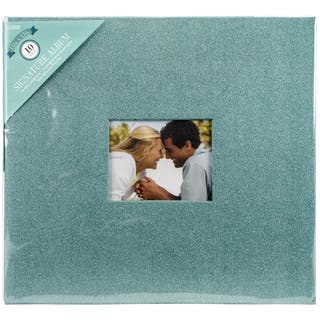 "Colorbok Post Bound Glitter Album 12""X12""-Teal