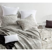 BYB Silver Birch Gradient Stone Washed Cotton Quilt Set