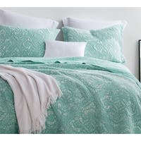 BYB Gradient Hint of Mint Stone Washed Cotton Quilt Set