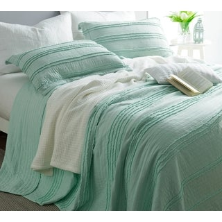 BYB Ruffled Stone Washed Hint of Mint Quilt Set