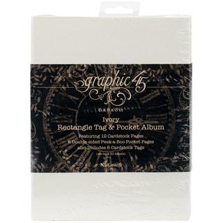 Graphic 45 Staples Tag & Pocket Album Rectangle-Ivory