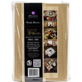 "Prima Frank Garcia Memory Hardware Chipboard Album-Magnetic Dossier, 6""X9"""