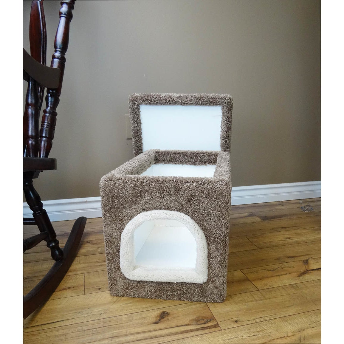 New Cat Condos Premier Small Litter Box Enclosure (Brown)