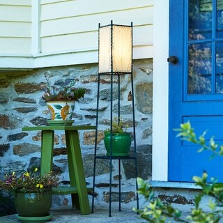 Handmade Outdoor Square Shelf Lamp Large