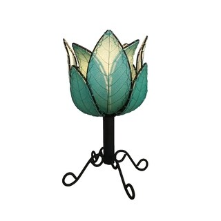 Handmade Outdoor Lotus Table Lamp (Philippines)