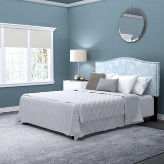 Handy Living Noleta Full/Queen Blue Floral Upholstered Headboard