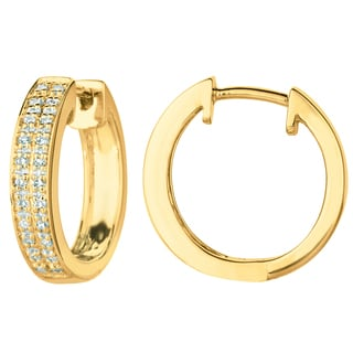14K DIAMOND EARRING - RHOD ON DIA