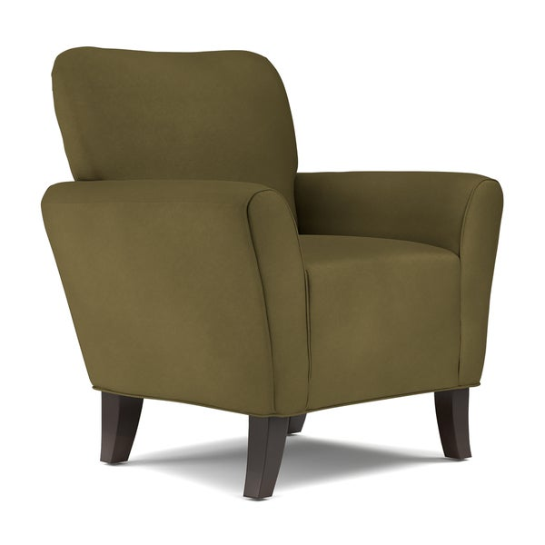Handy living sasha dark moss green microfiber arm chair