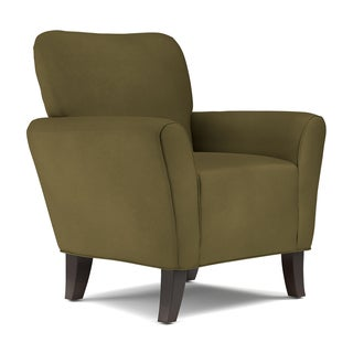 Handy Living Sasha Dark Moss Green Microfiber Arm Chair