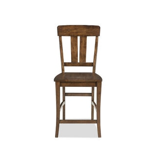 Intercon The District Copper Finish Splat Back 24 Inch Barstool (Pack of 2)