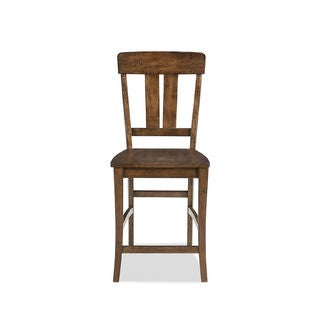 The District Copper Finish Splat Back 24 Inch Barstool (Pack of 2)