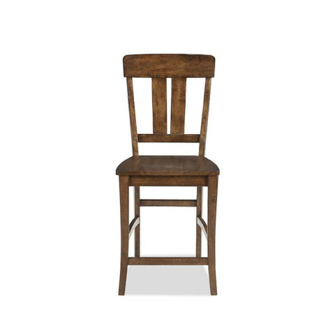 The District Copper Finish Splat Back 24 Inch Barstool (Set of 2)