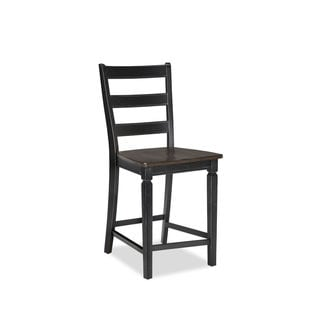 Intercon Glenwood Rubbed Black and Charcoal 24 Inch Ladderback Barstool (Pack of 2)