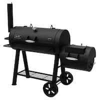 Dyna-Glo Signature Series DGSS962CBO-D Barrel Charcoal Grill and Side Firebox