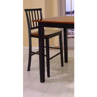 Intercon Arlington Black and Java 30 Inch Slat Back Barstool -2 pack